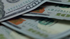 Money rotate on the table. close-up - stock footage