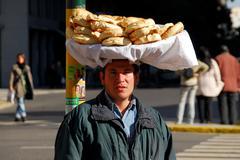 Bread Salesman - Buenos Aires, Argentina - stock photo