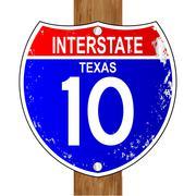 Texas Interstate Sign Stock Illustration