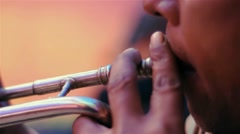 Person playing saxophone Stock Footage