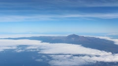 Tenerife, Canary Islands aerial - Pico del Teide skyline Stock Footage