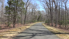 Chancellorsville driving POV Civil War road fast 4K Stock Footage