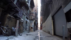 Grungy Los Angeles Alley Stock Footage