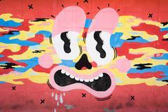 BANGKOK, THAILAND - CIRCA SEPTEMBER 2014: Art by unknown Grafitti artists  on Stock Photos
