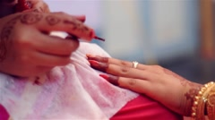 Bride getting ready Stock Footage