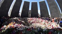 Armenian genocide memorial Stock Footage