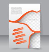 Flyer template. Business brochure. Editable A4 poster Stock Illustration