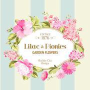 Floral Background - stock illustration