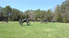 Chancellorsville Virginia Civil War battlefield cannons 4K Stock Footage
