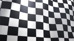 Stock Video Footage of Checkered  Flag background 12s