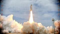 Launching of a rocket into space Stock Footage