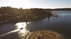 Gig Harbor, Washington Aerial Stock Footage