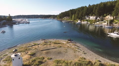 Gig Harbor, Washington Aerial 2 Stock Footage