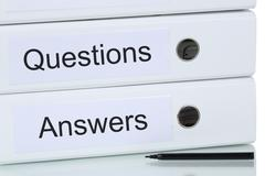 Question and answer business concept Stock Photos