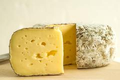 Tomette des Alpes, cheese of France Stock Photos