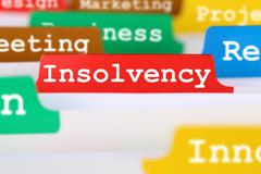 Insolvency, bankruptcy or liquidation business concept register in documents - stock photo