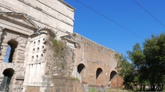 Larger Gate. Piazzale Labicano. Rome, Italy. 1280x720 Stock Footage