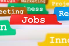 Job search for jobs business concept register in documents Stock Photos