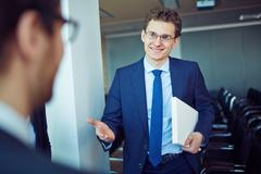 Friendly manager - stock photo