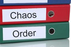Chaos and order organisation in office business concept Kuvituskuvat