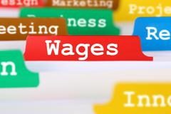 Employee wages financial business concept register in documents - stock photo