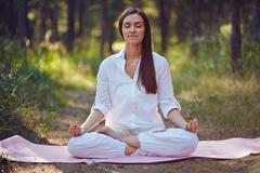 Spiritual practice - stock photo
