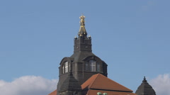 Crown on top of the Saxon State Chamber in Dresden Germany - stock footage