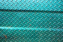 Patterns of old green iron wall Stock Photos