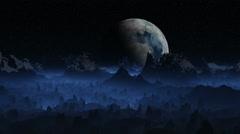 Alien landscape Stock Footage