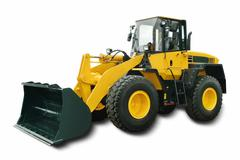 Yellow Wheel Loader - stock photo