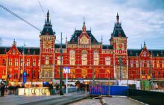 Stock Photo of Amsterdam Centraal railway station