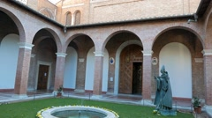 Sant'Anselmo all'Aventino. Rome. Italy Stock Footage