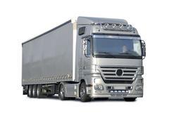 Modern semi truck - stock photo