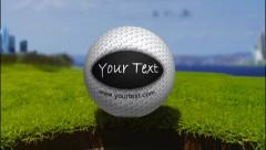 Golf Ball Title for AE6 - stock after effects
