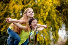 friendship kids at sommer camp - stock photo