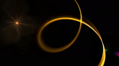Dynamic Golden Rotational Motion Stock Footage