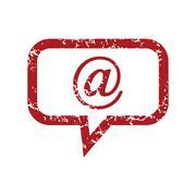 Red grunge mail logo Stock Illustration