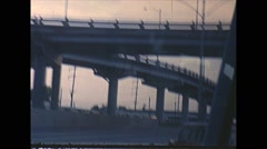 Vintage 16mm film, drive plate New Orleans freeway, 1960 Arkistovideo