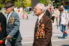 Unidentified veterans during the celebration of Victory Day. MIN Kuvituskuvat