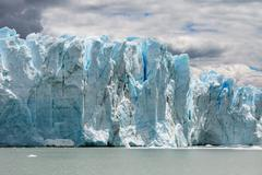 View of the glacier in Patagonia. Argentina Stock Photos