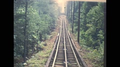 Vintage 16mm film, Lookout Mountain funicular riding aboard, 1960, #1 Stock Footage