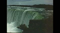 Vintage 16mm film, Niagara falls 1960 Stock Footage