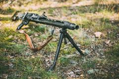 German Guns Of World War II - A MG 42 Machine-gun Stock Photos