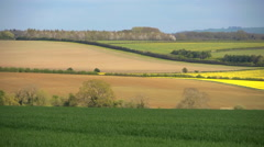 pan right across the Oxfordshire countryside - stock footage