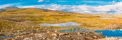 Norway Nature Mountain Landscape. Panoramic View Kuvituskuvat