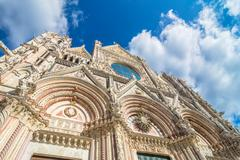 Santa Maria Assunta Cathedral in Siena - stock photo