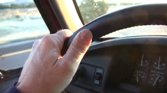 Steering Wheel, Driving - stock footage