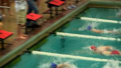 Girls swim team 24 Stock Footage