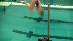Girls diving team 18 Stock Footage