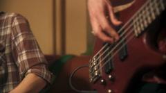 Bass Guitar Stock Footage